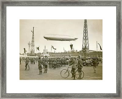 Graf Zeppelin Polar Flight Chart Framed Print by Us Coast Guard