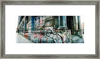 Graffiti Covered Germania Bank Building Framed Print by Panoramic Images