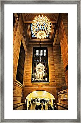 Grand Central Elegance Framed Print by Diana Angstadt