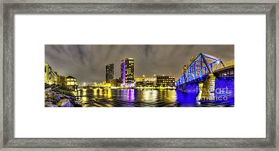 Grand Rapids Panorama Framed Print by Twenty Two North Photography
