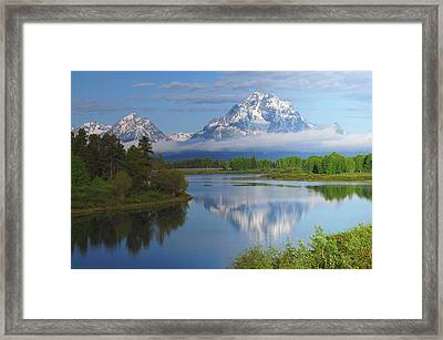 Grand Tetons From The Oxbow, Grand Framed Print by Michel Hersen