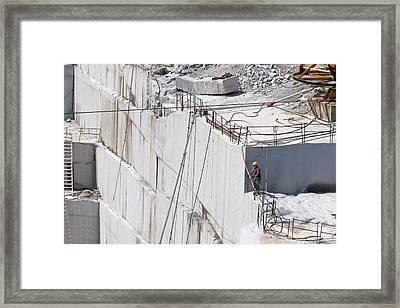 Granite Quarry Framed Print by Jim West