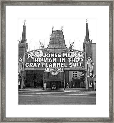 Grauman's Chinese Theater Framed Print by Underwood Archives