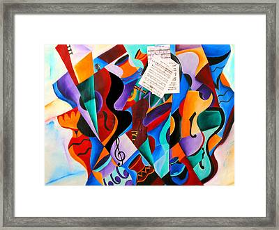 Gravity Framed Print by Vel Verrept