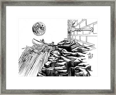 Gravity Vs Proportion Framed Print by Andrew Cravello