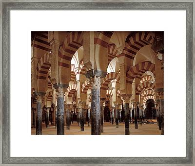 Great Mosque Of Cordoba. 8th-9th C Framed Print by Everett