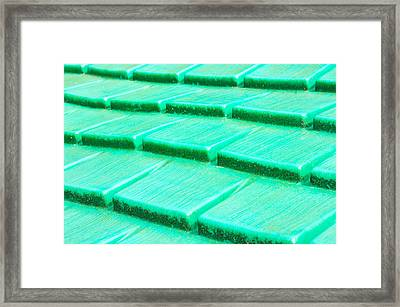 Green Plastic Framed Print by Tom Gowanlock