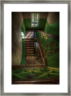 Green Stairs Framed Print by Nathan Wright
