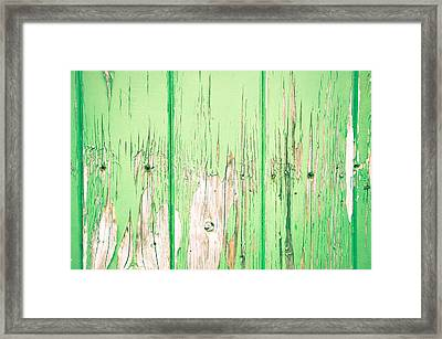 Green Wood Framed Print by Tom Gowanlock
