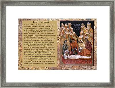 Greeting Cards Mystic Minute Framed Print by Mary jane Miller