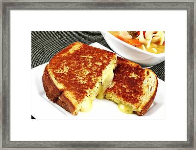Grilled Cheese Framed Print by Karin Hildebrand Lau