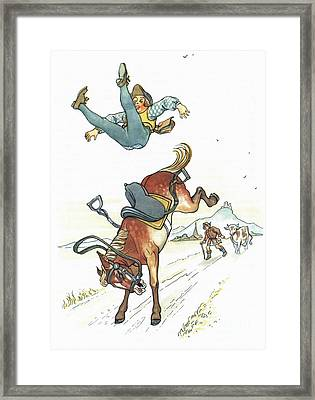 Grimm: Hans In Luck Framed Print by Granger