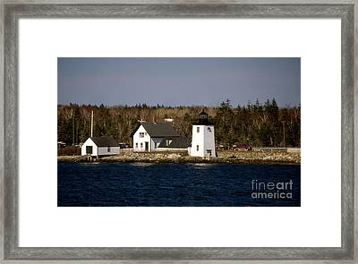 Grindel Point Lighthouse Framed Print by Skip Willits