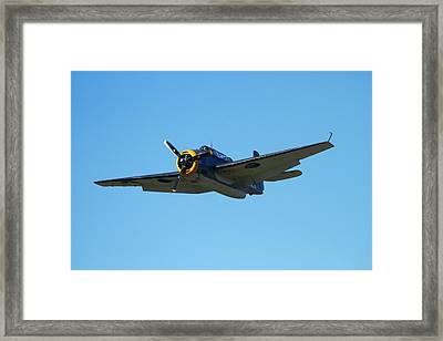 Grumman Avenger (with Folding Wings Framed Print by David Wall