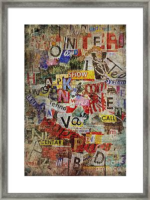 Grunge Textured Background Framed Print by Jelena Jovanovic