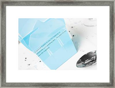 Guest Wedding Gift Box With Thank You Sticker Framed Print by Jorgo Photography - Wall Art Gallery