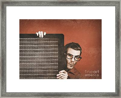 Guitarist Man Performing Stage Sound Check Framed Print by Jorgo Photography - Wall Art Gallery