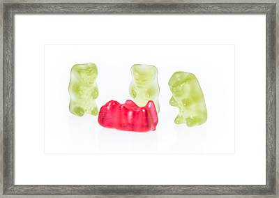 Gummi Bears Isolated On White Framed Print by Handmade Pictures