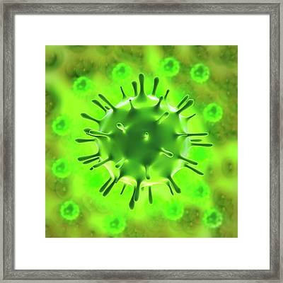 H1n1 Flu Virus Framed Print by Science Artwork