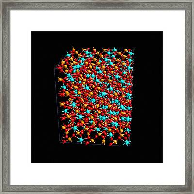 Hafnium Silicates Framed Print by Ibm Research