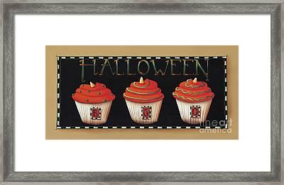 Halloween Cupcakes Framed Print by Catherine Holman