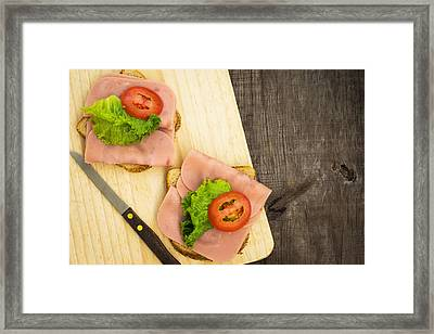 Ham Sandwiches Framed Print by Aged Pixel