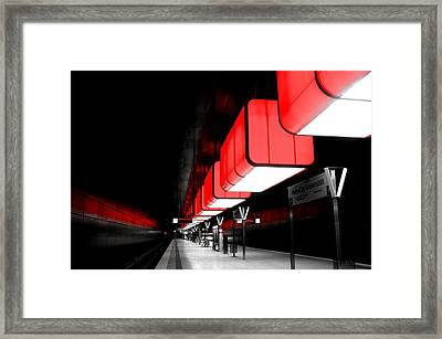 Hamburg Metro Framed Print by Mountain Dreams