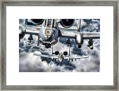 Hammer Time Framed Print by Peter Chilelli