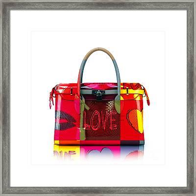 Hand Bag Art Framed Print by Marvin Blaine