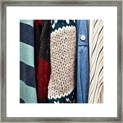 Hanging Clothes Framed Print by Tom Gowanlock
