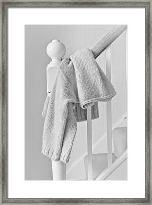 Hanging Jumper Framed Print by Tom Gowanlock