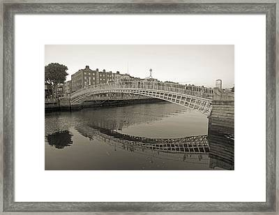 Ha'penny Bridge Dublin Ireland Framed Print by Betsy C Knapp