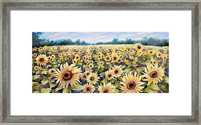 Happiness Field Framed Print by Susan Jenkins