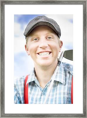 Happy Golfer Framed Print by Jorgo Photography - Wall Art Gallery
