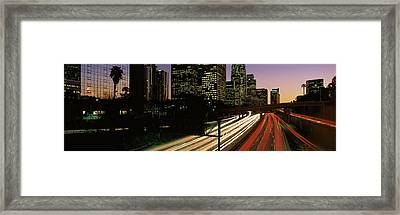 Harbor Freeway Los Angeles Ca Framed Print by Panoramic Images
