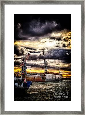 Harbor Framed Print by Miso Jovicic