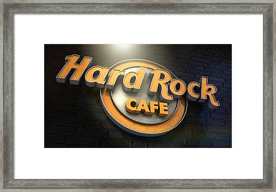 Hard Rock Cafe Logo Framed Print by Allan Swart