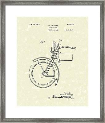 Harley Absorber 1925 Patent Art Framed Print by Prior Art Design
