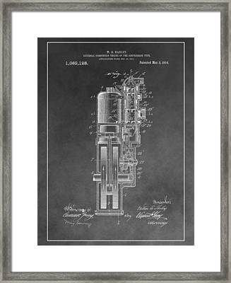 Harley Davidson Engine Patent Framed Print by Dan Sproul