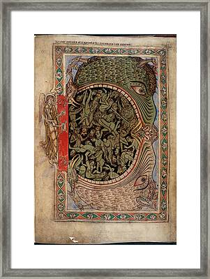 Harrowing Of Hell Framed Print by British Library