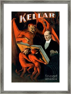 Harry Keller, American Magician Framed Print by Photo Researchers