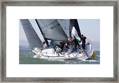 Heading Upwind Framed Print by Steven Lapkin