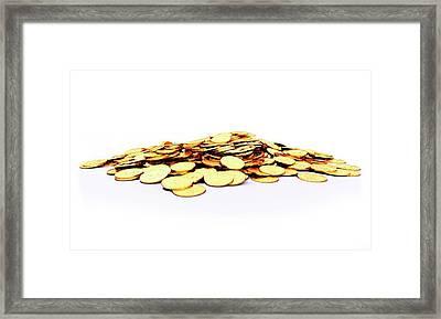Heap Of Golden Coins Framed Print by Sebastian Kaulitzki
