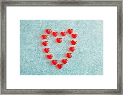 Heart Shape Framed Print by Tom Gowanlock