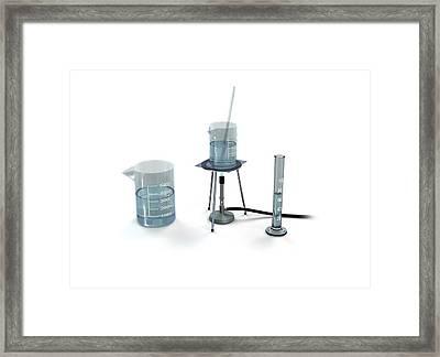 Heating Liquids Framed Print by Mikkel Juul Jensen