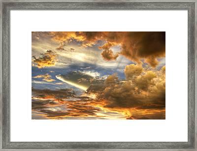 Heavenly Skies  Framed Print by Saija  Lehtonen