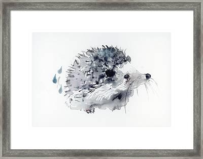 Hedgehog Framed Print by Kristina Broza