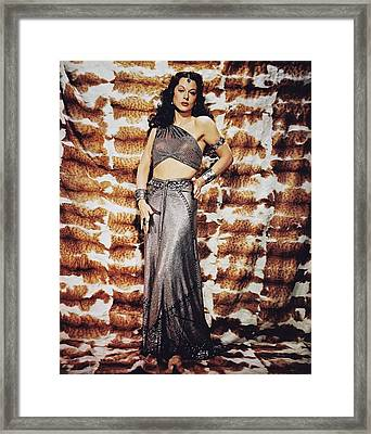 Hedy Lamarr In Samson And Delilah  Framed Print by Silver Screen