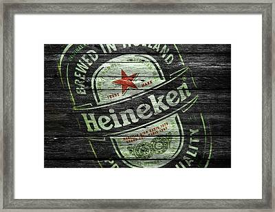 Heineken Framed Print by Joe Hamilton