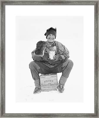 Heinz Baked Beans In Antarctica Framed Print by Scott Polar Research Institute